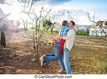 シニア, 園芸, 恋人