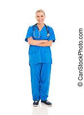 シニア, 女性の医者