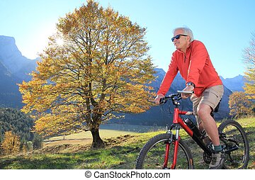 シニア, 2, 肝要である, mountainbiking