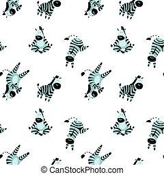 シマウマ, 面白い, パターン, seamless, かわいい
