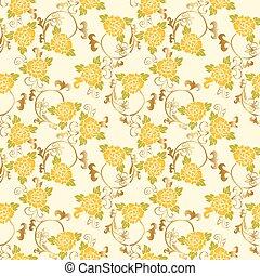 シャクヤク, パターン, seamless, ベクトル, 背景, 花