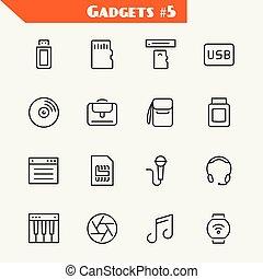 シャッター, ラップトップ, 懸命に, 付属品, シンセサイザ, 小道具, ドライブしなさい, コンピュータ, usb, カード, フラッシュ, カメラ, 音楽, 記憶, アイコン, sim, 柔らかい, cd, 腕時計, ヘッドホン, カード, マイクロフォン, set:, 読者, トナー, 袋
