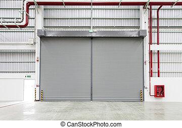 シャッター, 内部, ドア, 工場