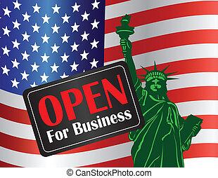 シャットダウン, 政府, 自由, 印, 像, 開いた
