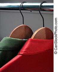 シャツ, 上に, hangers:, クリスマス, 色
