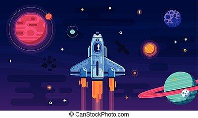シャトル, 飛行, 外宇宙