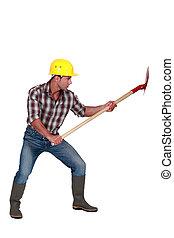 シャベル, 建築作業員
