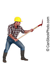 シャベル, 建設, 労働者