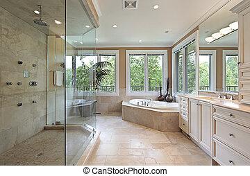 シャワー, 大きい, マスター, ガラス, 浴室