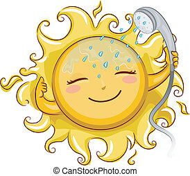 シャワー, 太陽, 取得