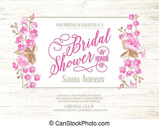 シャワー, bridal, invitation.