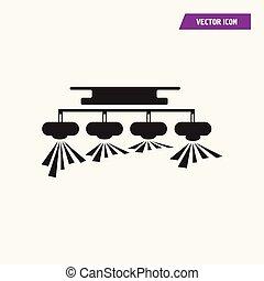 シャンデリア, 黒, ペンダント, icon., 天井ランプ