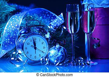 シャンペン の ガラス, ∥において∥, 新年, パーティー