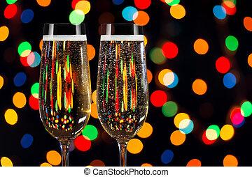 シャンペン, 2, ガラス