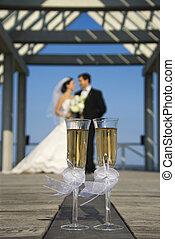 シャンペン, portrait., 結婚式