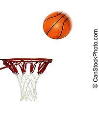 シュート, たが, バスケットボール, スコア