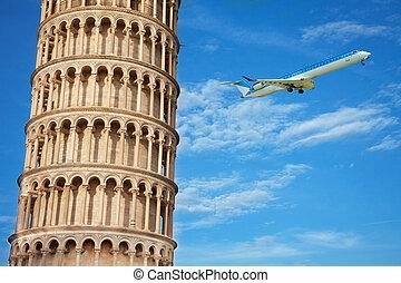 シュート,  Pisa, 部分, W, 終わり, タワー