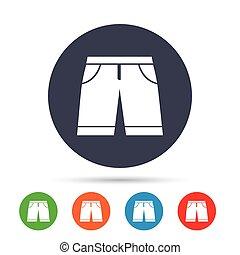 ショートパンツ, 人, シンボル。, 印, バミューダ島, icon., 衣類