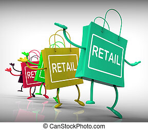 ショー, コマーシャル, 商業, 小売り, 袋, 販売