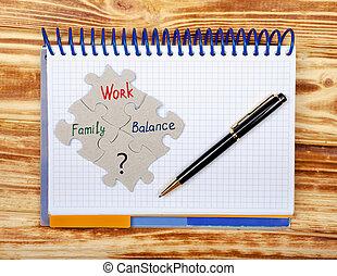 ショー, バランス, 家族, ノート, ほとんど, 仕事, 重要, areas., 生活