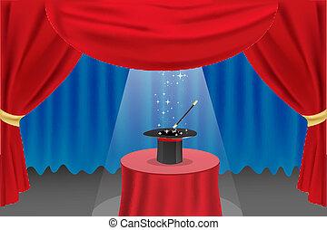 ショー, マジック, ステージ