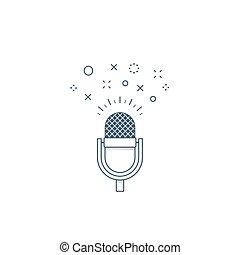 ショー, ロゴ, podcast, 話, アイコン