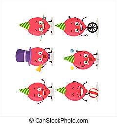 ショー, 様々, 特徴, 漫画, サーカス, balloon, 赤