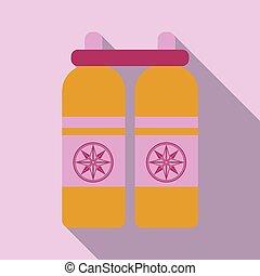 シリンダー, タンク, ダイバー, 酸素, 隔離された