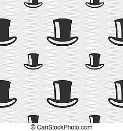 シリンダー, パターン, 印。, seamless, ベクトル, 幾何学的, 帽子, texture., アイコン