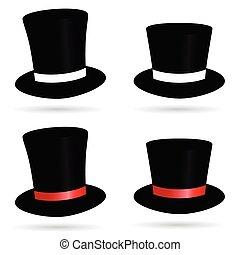 シリンダー, 帽子, イラスト