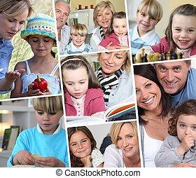 シリーズ, 生活, 描写, 家族, 映像