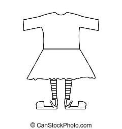 シルエット, ∥で∥, 女性, 衣類, pijama
