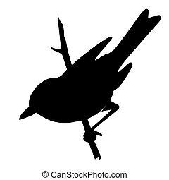 シルエット, イラスト, 背景, ベクトル, 白い鳥