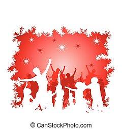 シルエット, クリスマス, 背景