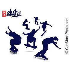 シルエット, スケート