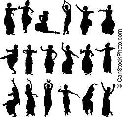 シルエット, ダンサー, indian