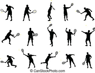 シルエット, テニス
