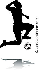 シルエット, フットボール選手