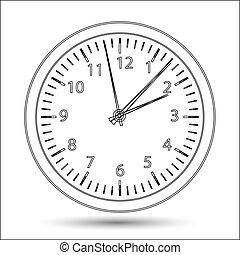 シルエット, ベクトル, 腕時計, イラスト