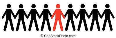 シルエット, 人間の数字