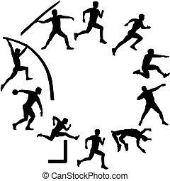 シルエット, 十種競技, 形, 円