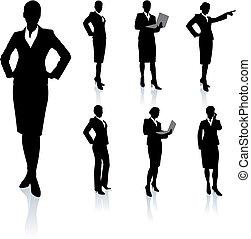 シルエット, 女性実業家, コレクション