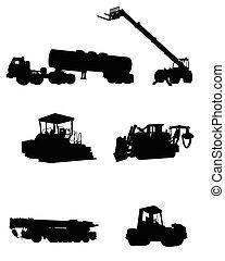 シルエット, 建設, 機械類