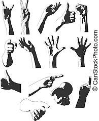 シルエット, 手