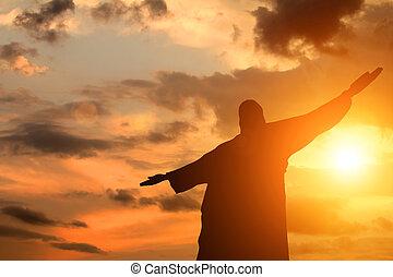 シルエット, 日没, イエス・キリスト