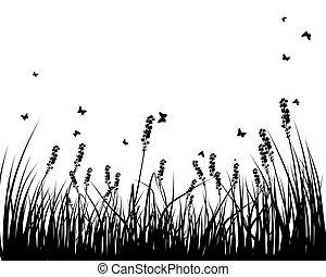 シルエット, 牧草地