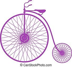 シルエット, 自転車, 型