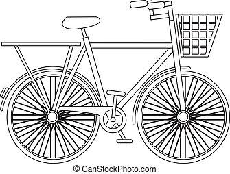 シルエット, 自転車