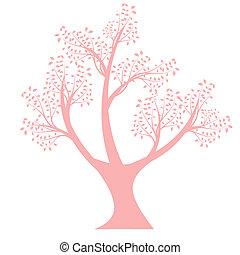 シルエット, 芸術, 木