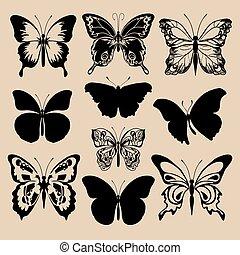 シルエット, 蝶